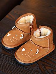 Mädchen Baby-Stiefel-Lässig-Wildleder-Flacher Absatz-Komfort-Schwarz Gelb Grau