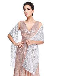 Women's Wrap Shawls Sequined Wedding Party/Evening Sequin