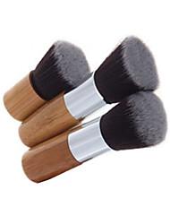 3pcs Makeup Brushes Set Professional Blush/Foundation Brush Bamboo Handle