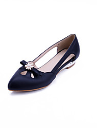 Women's Heels Spring Summer Fall Comfort Leatherette Office & Career Dress Casual Party & Evening Low Heel Bowknot Sparkling GlitterBlack