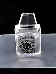1 conjunto quadrado pura clara silicone unha carimbo raspador transparente