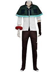 Cosplay Costumes Festival/Holiday Halloween Costumes Red / Brown / White Solid Coat / Blouse / Pants / Gloves Male Uniform Cloth