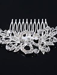 Women's Rhinestone AAA zircon Clover Headpiece-Wedding Flower Combs Hair Jewery(9*7cm
