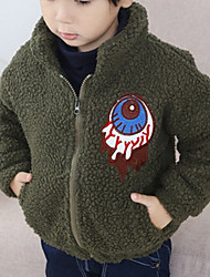 Boy Casual/Daily Solid Down & Cotton Padded,Wool Winter / Fall Long Sleeve