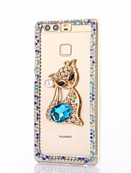 For Huawei P9 Plus Lite P8 Lite Rhinestone Case Back Cover Case Fox Hard PC  Honor 8 7 6 6Plus 5C 5X 4X 4C 4A Mate8 7