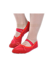 Kids' Girls Canvas Ballet Shoes with Flat Heel Split Sole  Ballet Slipper Dance Shoes in Black / Pink / Red / White