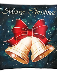 Green Velvet Pillow Christmas Series Golden Bell Christmas Gift Pillow Pillow Cloth material