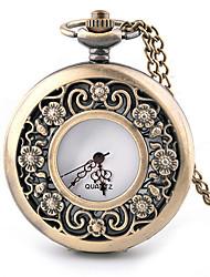 Plum Blossom Alloy Analog Quartz Pocket Watch (Bronze) Cool Watch Unique Watch Fashion Watch