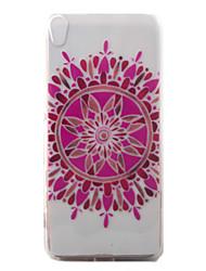 Pour Transparente / Motif Coque Coque Arrière Coque Fleur Flexible TPU pour Sony Sony Xperia XA