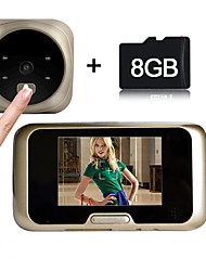 Besteye®3.2Inch Door Camera with 8GB TF Card 4 IR Night View Wide Angle Lens Digital Door Viewer
