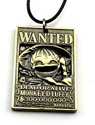 Plus d'accessoires Inspiré par One Piece Monkey D. Luffy Anime Accessoires de Cosplay Colliers Doré / Argenté Alliage