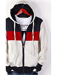 Men's Casual/Daily Sports Active Hoodie Color Block Micro-elastic Cotton Long Sleeve Spring Fall
