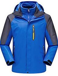 Homens Blusas Acampar e Caminhar Esportes de Neve Corrida Impermeável Térmico/Quente A Prova de Vento Isolado ConfortávelPrimavera Outono