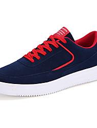 Femme-Décontracté / Sport-Noir / Bleu / Rouge / Gris-Talon Plat-Confort-Sneakers-Daim