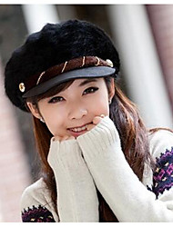 Women Rabbit Fur Floppy Hat,Casual Fall / Winter