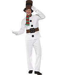 Cosplay Kostüme Santa Anzüge Film Cosplay Weiß einfarbig Top / Hosen Weihnachten Mann Polyester