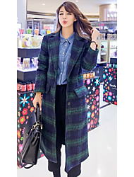 Women's Casual/Daily Simple Coat,Solid Shirt Collar Long Sleeve Spring / Fall Multi-color Polyester Medium