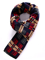Men's Wool Blend Scarf Work/Casual/Calassic Scarf Nature and Warm with Multicolor