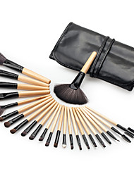 Woman's 24pcs Makeup Brush Sets Professional Cosmetics Brushes Eyebrow Powder Foundation Creams Maquiagem Make Up Tool