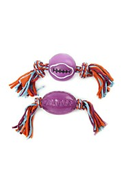 Dog Toy Pet Toys Teeth Cleaning Toy Rope Multicolor Rubber
