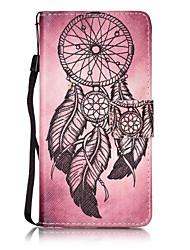 """Для Бумажник для карт / Кошелек / Флип / С узором Кейс для Чехол Кейс для Рисунок """"Ловец снов"""" Твердый Искусственная кожа для Huawei"""