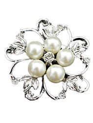 Women's Brooches Pearl Simulated Diamond Jewelry Wedding Party Daily Casual