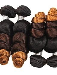 4 Peças Ondulação Larga Tramas de cabelo humano Cabelo Brasileiro 400g 12-24inches Extensões de cabelo humano