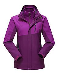 Wandern Windjacken / Softshell Jacken Damen Wasserdicht / warm halten / Windundurchlässig Herbst / Winter Terylen Gelb / Rot / Purpur