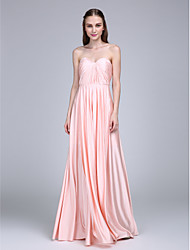 LAN TING BRIDE Floor-length Sweetheart Bridesmaid Dress Sleeveless Jersey