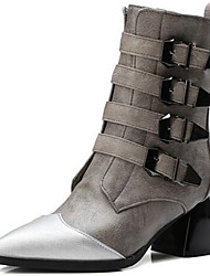 Women's Boots Spring / Fall / Winter Gladiator Synthetic Party & Evening / Dress / Casual Chunky Heel Black / Gray