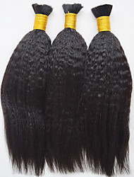 No Attachment Human Braiding Hair Bulk 7A Kinky Straight Human Braiding Hair Human Hair Bulk Crochet Human Hair For Micro Braids