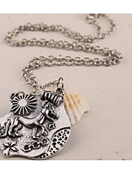 Necklace Non Stone Jewelry Daily / Casual Dangling Style Sterling Silver Men 1pc Gift Silver