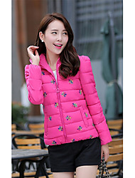 Sign 6626 # 2016 winter new Korean Slim Down a short section of female fashion embroidery cotton padded jacket