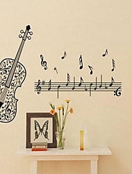 Music Wall Stickers Plane Wall Stickers Decorative Wall Stickers,Vinyl Material Removable Home Decoration Wall Decal