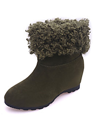 Women's Boots Winter Dull Polish Comfort Thick Suede Dress / Casual Low Heel Split Joint Black / Green / Gray