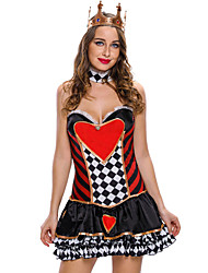 2pcs Sexy Queen of Hearts Cosplay Costume