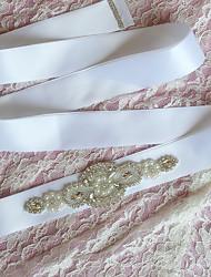 Satin Wedding / Party/ Evening Sash-Rhinestone Women's 98 ½in(250cm) Rhinestone