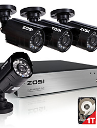 ZOSI®8CH 720P Video Recorder 4PCS 1.0MP Home Security Camera Surveillance Kits 1TB HDD