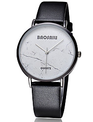 BAOSAILI Women's Fashion Watch Map Case Japanese Quartz Colorful Leather Band Flower / Casual Black / White / Red Brand