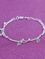 Women's Anklet/Bracelet Silver Plated Fashion Leaf Silver Women's Jewelry Daily