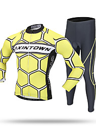 XINTOWN Cycling Jersey with Tights Men's Long Sleeve BikeThermal / Warm Windproof Moisture Permeability Front Zipper Static-free