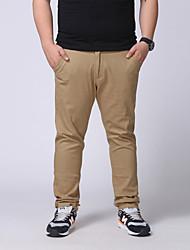 Hombre Pantalones Chinos-Simple Microelástico-Algodón / Poliéster / Licra