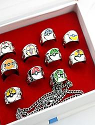 Plus d'accessoires Inspiré par Pocket Monster PIKA PIKA Anime Accessoires de Cosplay Anneau Argenté Alliage