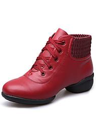 Non Customizable Women's Dance Shoes Leatherette Leatherette Dance Sneakers Sneakers Low Heel Practice / Outdoor / PerformanceBlack / Red