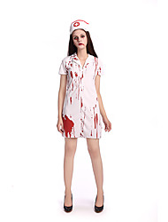 Cosplay Costumes Vampire Movie Cosplay White Solid Dress / Hats Halloween / Carnival Female Polyester