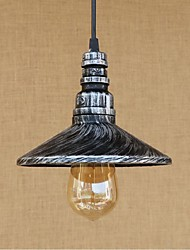 AC 220V-240V 40W Pendant Light   Rustic/Lodge Painting Feature for Designers Metal Bedroom / Dining Room / Study Room/Office / Game Room / Garage Silv