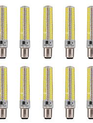 15W BA15D Ampoules Maïs LED T 136 SMD 5730 1200-1400 lm Blanc Chaud / Blanc Froid Gradable / Décorative V 10 pièces