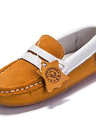 Boy's Loafers & Slip-Ons Spring / Summer / Fall / Winter Comfort Suede Outdoor / Athletic / Casual Flat Heel Hook & Loop Blue / Yellow