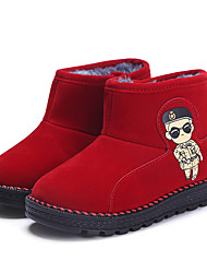 Girl's Boots Spring / Fall / Winter Comfort Suede Outdoor / Casual Black / Brown / Red