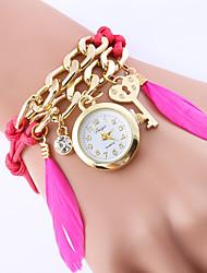 Watches Women Fashion Watch Chain Feather Luxury Crystal Bracelet Clock Dress Quartz-Watch Relogio Feminino